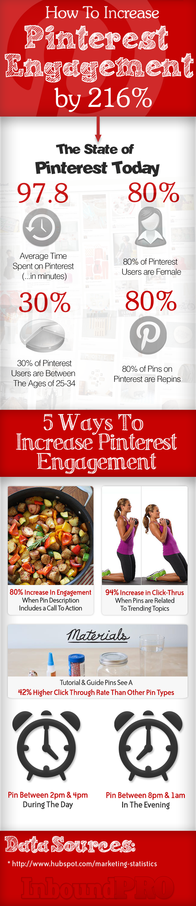 How To Boost Engagement On Pinterest - infographic